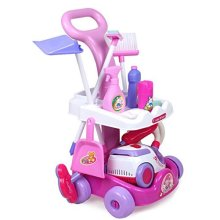 deAO Household Cleaning Play Toy Set with Vacum Cleaner and Lots More Accessories