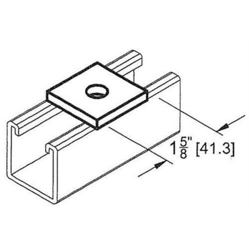 Morris Products 17618 Square Washer 0.5 In.