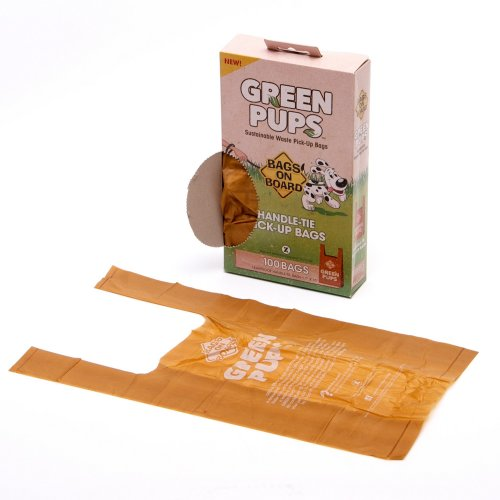 Simple Solution Bags On Board Green Pups Tie Up Dog Poo Bags