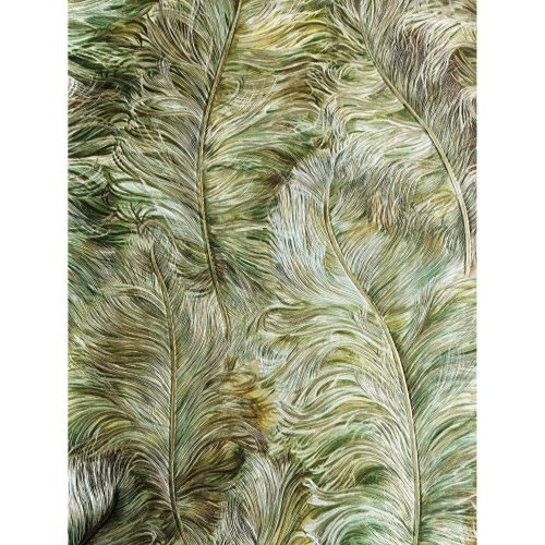 Profhome 822203 Exclusive luxury wallpaper shiny leaf-green gold 5.33 sqm