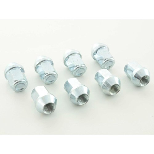 Nuts Set (8 pieces), 1 / 2 UNF 34mm Taper silver