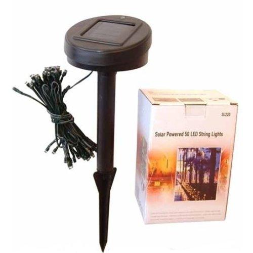 LED String Fairy Lights - Solar Powered for Outdoor/Garden/Xmas - White - 50 PC