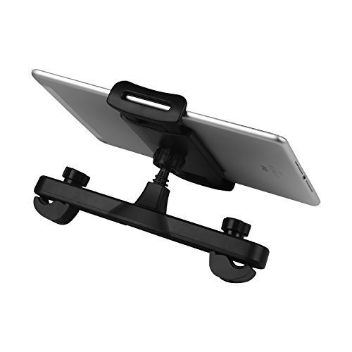 PDR 360° Rotation Universal Car Tablet Holder, Headrest Mount Support Car Tablet Holder Stand Seat Bracket for iPad Mini 2/3/4, other 5-11 Inch...