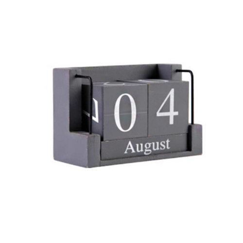 Wooden Permanent Calendar Creative Calendar Decoration For Home / Office -A3