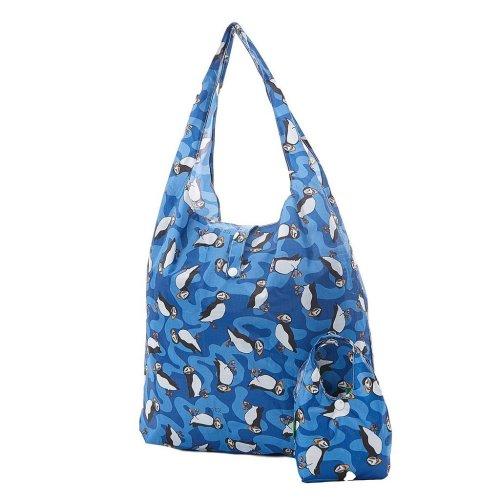 PUFFIN print foldaway shopping bag holds 15kg