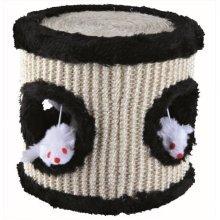 Trixie Sisal/plush Play Drum, 17 x 17cm Diameter - Scratching Sisal Drum 4 -  scratching sisal play drum 4 plush mouse toys cat kitten 17cm