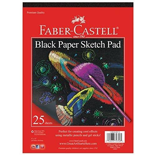 Faber Castell Black Paper Pad 9 X 12