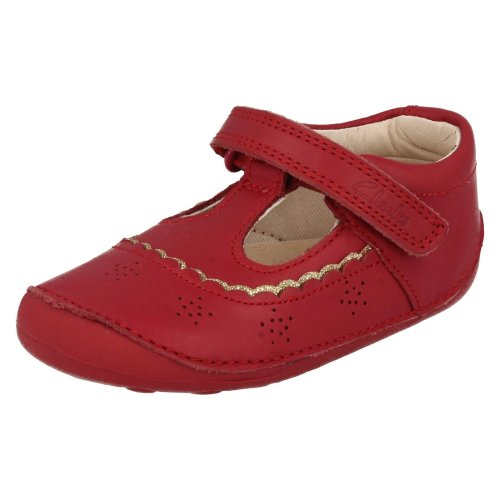 Clarks DANCE STEP Girls Black Leather Formal School Shoes Size UK 13F