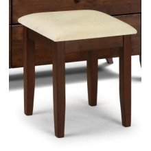 Minu Wenge Dressing Stool Wood Frame Padded Seat