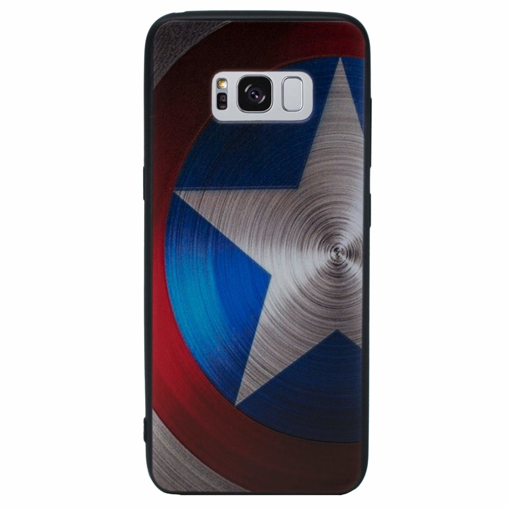 best authentic 78a59 e68fa 3D Marvel Phone Case/Cover for Samsung Galaxy S8 Plus (G955) with Screen  Protector/Silicone Soft Gel/TPU / iCHOOSE/Captain America - Shield