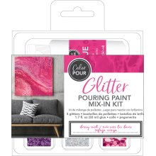 American Crafts Color Pour Glitter Mix-In Kit 4/Pkg-Berry Rush