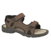 Pdq Mens Triple Touch Fastening Sports Sandal Brown