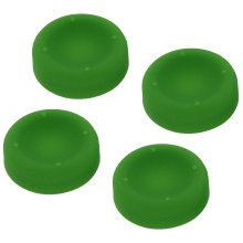 ZedLabz concave soft silicone thumb grips for Sony PS4 controller analog sticks - 4 pack green