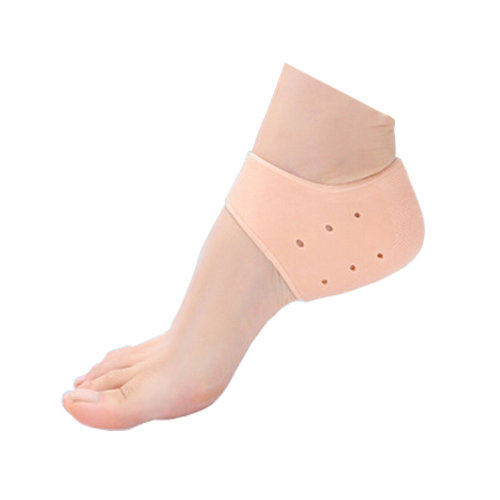 3 Pair khaki Silicone Heel Protector Heel Brace For Cracked, Hard, Dry Skin