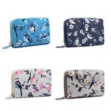 Miss Lulu Women Girls Flower Bird Purse Wallet