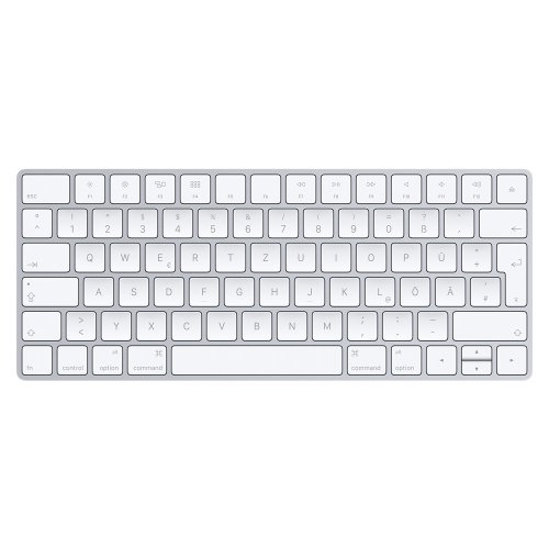 Apple Magic Keyboard Bluetooth QWERTZ German Silver,White keyboard