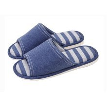 (Made By Cotton)Skidproof The Simple Style Of Home Slippers(Navy)