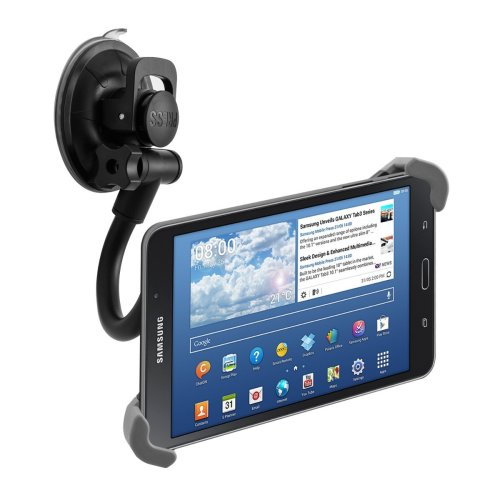 "flexible car shield mount for 7-10,5"" Tablet - car holder with suction cup Black"