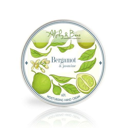 Moisturising Hand Cream Bergamot & Jasmine 60ml Handmade In UK