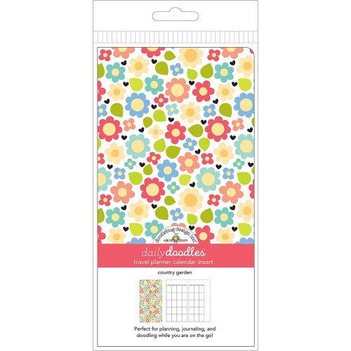 Doodlebug Planner Inserts-Country Garden Daily Doodles Calendar