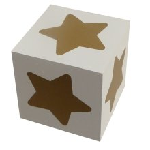 Wooden Block - Gold Star
