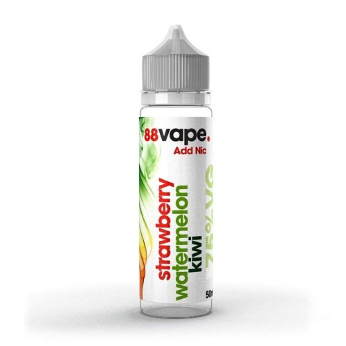 88 Vape Shortfill E-Liquid Strawberry Watermelon Kiwi Zero Nicotine 50ML of 0mg in 60ML Bottle