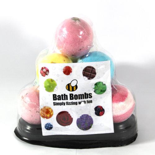Bath Bomb Pyramid 10 x 65g Bath Bombs