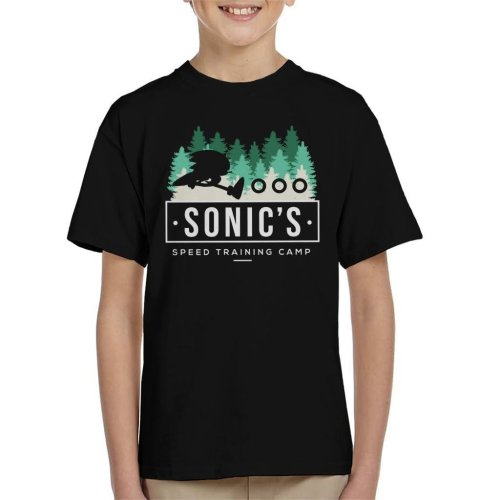 Sonic The Hedgehogs Speed Training Camp Kid's T-Shirt
