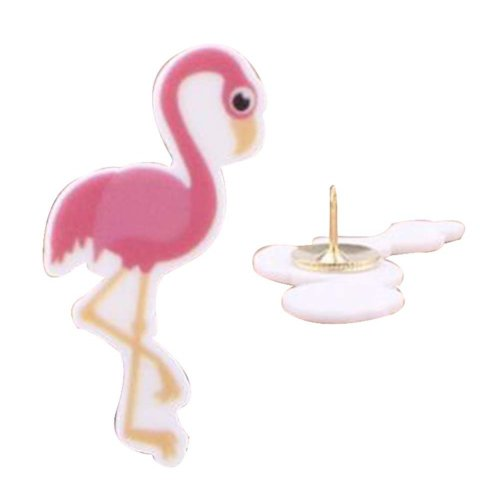 4 Pcs Creative Pushpin Push Pin Thumbtack Office Supplies, Flamingos