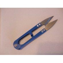 Steel Sharp Scissors / Snips - 10.6cm x 2.2cm x 1cm - Blue