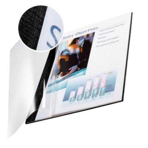 Leitz impressBIND Cardboard,Polyethylene terephthalate (PET) Black,Transparent folder