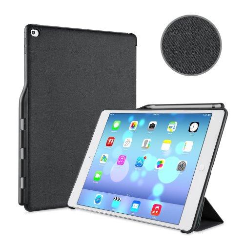 best website 4a54c 932ec iVAPO Pencil Holder Case PU Stand iPad Pro 12.9 Folio Cover (Black ...
