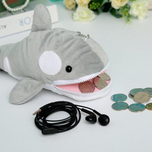 Cartoon Whale Plush Coin Purse Pencil case