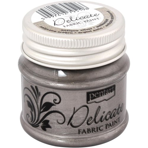 Delicate Fabric Paint 50ml-Antique Silver