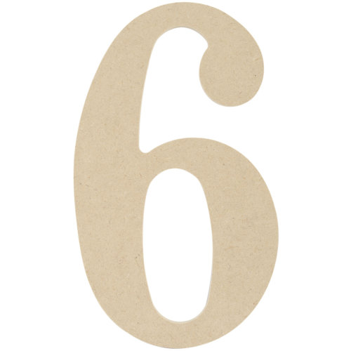 """MDF Classic Font Wood Letters & Numbers 9.5""""-6"""