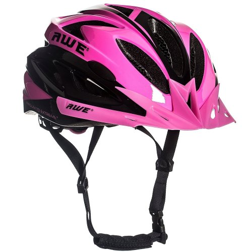 """AWE AWEAirâ""""¢ FREE 5 YEAR CRASH REPLACEMENT* In Mould Adult Ladies Womens Cycling Helmet 58-61cm Pink"""