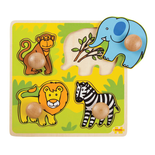 Bigjigs Toys My First Safari Wooden Peg Puzzle
