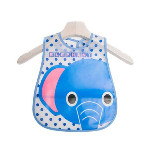 Lovely Cartoon Design Baby Bib Best Home/Travel Bib Soft,Waterproof Elephant