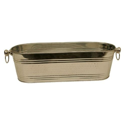 Wald Imports 3637 21 in. Polished Silver Beverage Oval Bucket