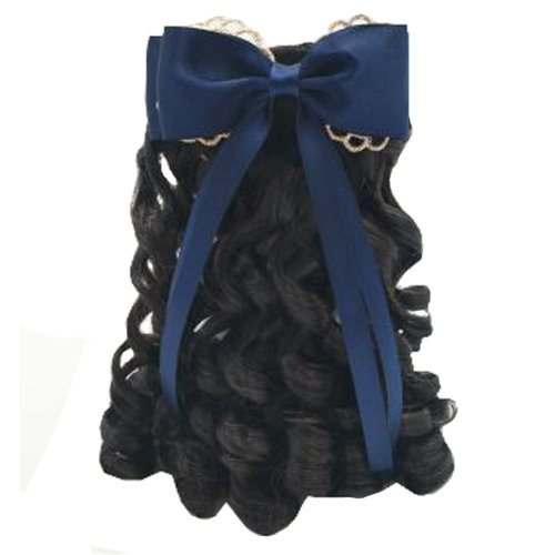 Children Girls Long Curly Wigs Hair Extensions Hair Clip Kids Wig Hairpiece, I