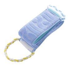 Tow-sided Long Style Bath Towels Cutin Rubbing Washing Accessories Blue