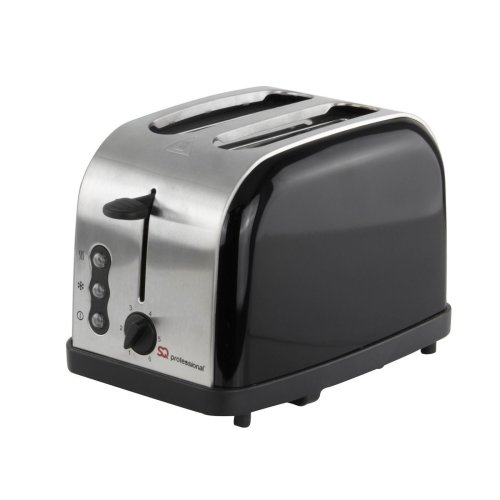 SQ Professional 900 W Two Slice Toaster with 3 Functions and 6 toasting levels - Onyx