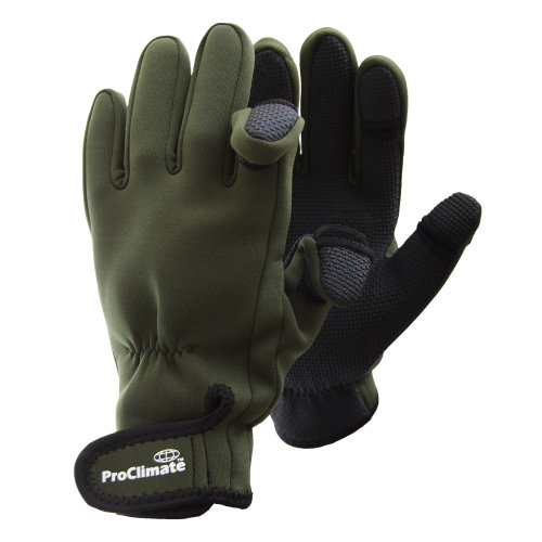 Floso Mens Neoprene Fishing Gloves (Lightweight Waterproof)