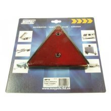 Pack Of 2 Rear Reflective Trailer Triangles - Maypole Reflector Red x 016 -  maypole reflective triangles reflector red x2 016 trailer