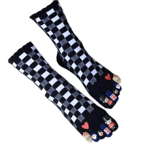 Tube Toe Socks Cotton Soft House Socks Cartoon Cute Socks-A05