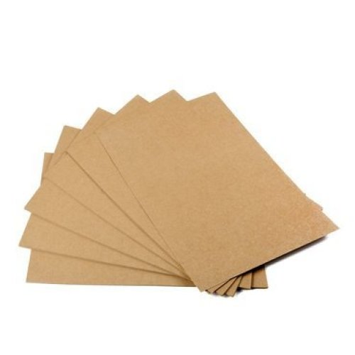 Kraft paper, 50 sheets, din A5, natural cardboard, high quality, brown natural craft card, kraft cardboard, 260 g, quality.
