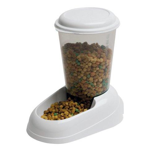 Ferplast Zenith Cat and Dog Food Dispenser, 29.2 x 20.2 x 28.8 cm, 3L, White