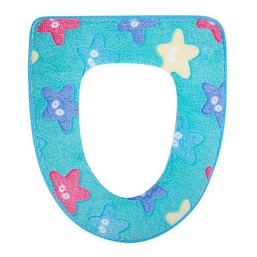 2 Pcs Toilet Seat Covers/Decors Starfish Pattern Plush Toilet Seat Toilet Mat