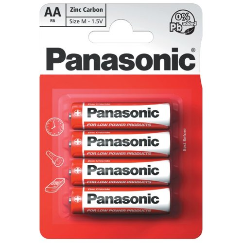 Panasonic AA Size Battery  - Pack of 12 (R6RZ-4BP)