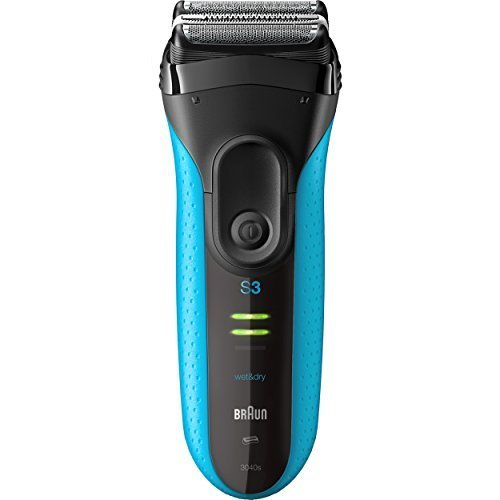 Braun Electric Shaver, Series 3 ProSkin 3010s Mens Electric Razor / Electric Foil Shaver, Rechargeable, Wet & Dry, Blue
